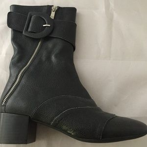 NEW Jeffrey Campbell Black Leather Mid Boot, 9